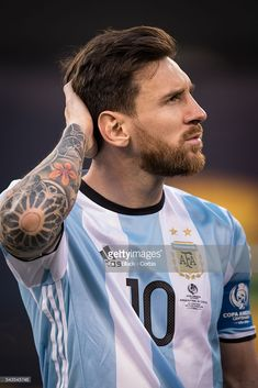 Argentina forward and Captain Lionel Messi during the Copa America Centenario Final Argentna vs Chile Soccer, 2016 on June 2016 at Met Life in East Rutherford, NJ, USA . The score was tied at Get premium, high resolution news photos at Getty Images Fc Barcelona, Lionel Messi Barcelona, Barcelona Football, Messi Argentina, Argentina Football, Messi Videos, Copa America Centenario, Lionel Messi Wallpapers, Messi Photos