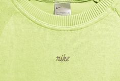 Vintage 90s Nike Spell Out Logo Swoosh Sweatshirt  Green SIze S New with Tags