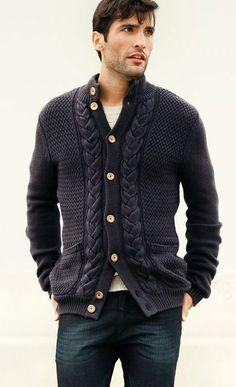 Men's hand knit aran cardigan turtleneck sweater cardigan men clothing wool handmade men's knitting aran cabled crewneck by BANDofTAILORS on Etsy https://www.etsy.com/listing/247192719/mens-hand-knit-aran-cardigan-turtleneck