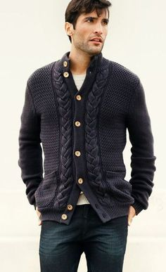 Men's hand knit aran cardigan turtleneck sweater cardigan men clothing wool handmade men's knitting aran cabled crewneck by BANDofTAILORS on Etsy https://www.etsy.com/listing/247192719/mens-hand-knit-aran-cardigan-turtleneck