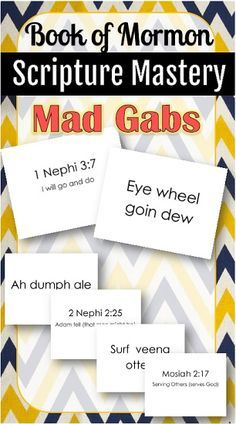 Book of Mormon Scripture Mastery Mad Gabs!