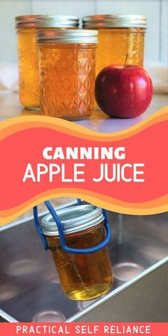 Canning apple juice is easy to do at home, with or without a juicer. Great for the beginner, this recipe for how to can fresh fall season apple juice is a hit with my kids! Best of all, it's preservative free and has no added sugar. #apples #applejuice #canning #foodpreservation #preserving #homecanning #canningrecipes #recipe #applerecipe Canning Apples, Canning Peaches, Canning Vegetables, Canning Lids, Canning Labels, Canning Recipes, Homemade Apple Juice, Cider Press, Fruit Preserves