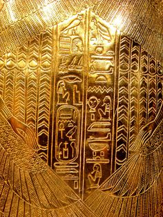Golden reliefs from third Tutankhamun´s coffin by The Adventurous Eye, via Flickr