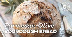 Parmesan-olive Sourdough Bread
