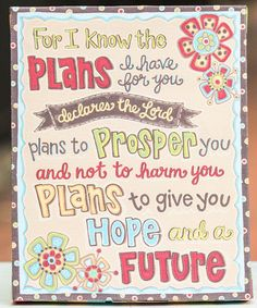 Love this 'For I Know The Plans' Tabletop Canvas on #zulily! #zulilyfinds