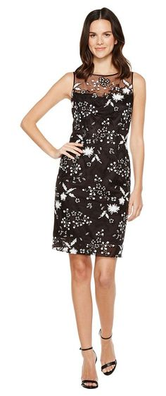 Tahari by ASL Sequin Sheath Dress (Black/White) Women's Dress - Tahari by ASL, Sequin Sheath Dress, 7120M219-013, Apparel Top Dress, Dress, Top, Apparel, Clothes Clothing, Gift - Outfit Ideas And Street Style 2017