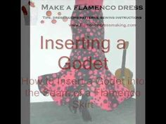 Godets are commonly used to add more flare to the hem of a flamenco skirt. Learn an easy method to insert a godet into a skirt seam giving you perfect result...