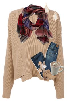 """Pumpkin Spice and Everything Nice"" by mre7986 ❤ liked on Polyvore featuring STELLA McCARTNEY, American Eagle Outfitters, TravelSmith, Sole Society, Kendra Scott and CLUSE"