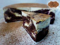 Zdravější čokoládově-tvarohový dort