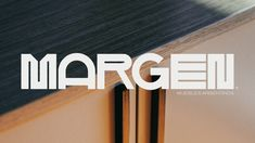 Margen is a Furniture Brand based in Buenos Aires, Argentina. The brand embraces it's origin and works with materials and local talents to develop premium design. Font Design, Badge Design, Branding Design, Graphic Design, Typography Love, Lettering, Typography Letters, Restaurant Logo, Typographie Inspiration