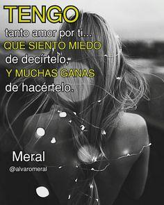 Este #amor que tengo no se apaga con calma, solo con #fuego @alvaromeral