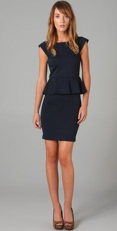 I love the two toned style of this dress, but the classic navy is a great option too.
