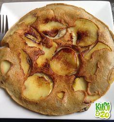 Omeletpannenkoeken met appel en bosbessen Kiwi, Apple Pie, Mashed Potatoes, Muffin, Lunch, Breakfast, Ethnic Recipes, Desserts, Healthy Recipes