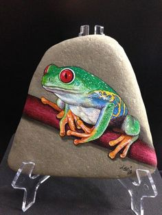 Original Hand Painted Signed Rock/Stone