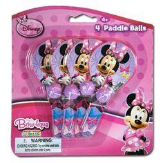 Disney Minnie Bowtique 4pk Mini Paddle Balls by Disney. $6.99