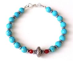 Boho style gemstone bracelet – Festive By Nature Creative Designs #festivebynature #accessories #gemstonebracelets