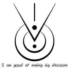 """I am good at making big decisions"" sigil requested by anonymous Nordic Symbols, Wiccan Symbols, Spiritual Symbols, Pagan, Magick, Witchcraft, Protection Rune, Sigil Magic, Circle Tattoos"