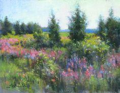 """Summer in Newbury"" by JC Airoldi Pastel ~ 11 x 14"