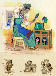П. П. Бажов - Малахитовая шкатулка. Иллюстратор Николай Кочергин.