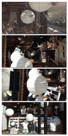 Origami Window Display