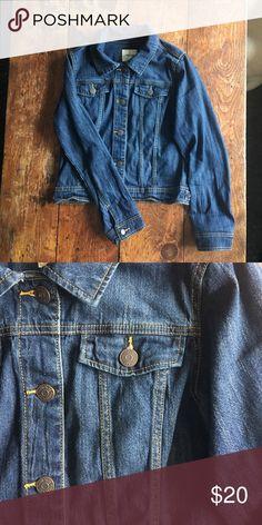 Dark Jean Jacket Dark wash jean jacket. Two front breast pockets. Would fit a women's small. Xhilaration Jackets & Coats Jean Jackets