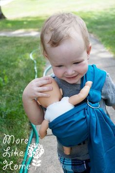 More Like Home: Baby Doll Ring Sling {tutorial}