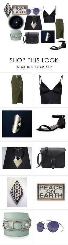 """""""Peace on earth"""" by planitisgi ❤ liked on Polyvore featuring self-portrait, T By Alexander Wang, Stuart Weitzman, Balenciaga and Maison Margiela"""