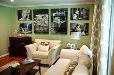 SALON-affichage-pics vert-mur-