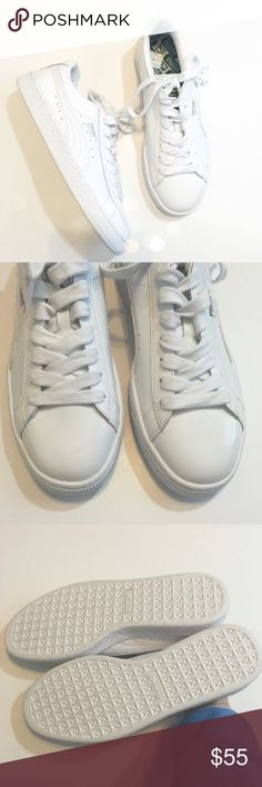 awesome Tendance Basket 2017 - Puma White Patent Basket Sneakers Super cute and perfectly on trend! Brand new a...