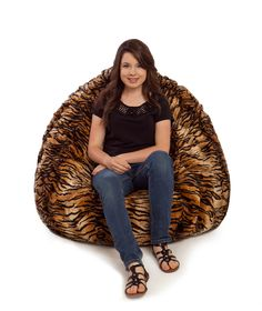 98c8b3c848c0 Our animal fur bean bag chairs are available in 7 different animal  patterns. Our faux fur beanbags come with a fully removable cover that is  washable.