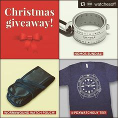 #Repost @watchesoff with @repostapp  Hey watchfam! I missed my 5k I was not expecting it to arrive that quickly. I am truly grateful for the support this account has garnered since it started in February and I thought a Christmas Giveaway would be in order!  The winner of this giveaway will get: A Nomos sundial! A @pdxwatchguy tee! A Worn&Wound two-watch pouch!  To win follow me and repost this image on your own account with the hashtag #WOXmasGiveaway and tag me in the image. Make sure you…