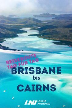 Unsere Reise von Brisbane bis Cairns entlang der Ostküste Australiens war traumhaft schön. Wir haben unsere Tour im Camper durch Australien unternommen und erzählen euch hier Tag für Tag unsere Erfahrungen. Wir zeigen euch nicht nur die schönsten Orte auf unserer Tour, sondern geben euch handfeste Planungstipps - mit Tour-Vorschlägen zum Beispiel zu den Whitsunday Islands. #australien #brisbane #cairns #reiseroute #camper #lovingaustralia #ostküste #lovingaustralia
