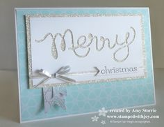 Stampin' Up! Christmas card by Amy Storrie: New Expressions Thinlits Dies: Negative Space