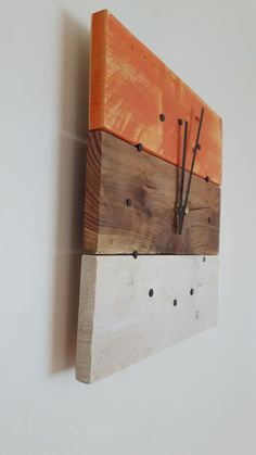 Wall Clock Reclaimed Wood Wall Clock Wall by SpudsCreativeAsylum