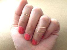 Super SALE set of 3 Gold Knuckle Rings by littlethingsplanet, $8.50