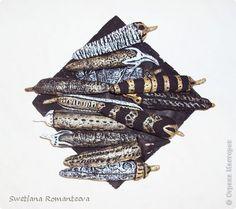 Сделала  фантазийные перчики, по примеру интерьерной композиции в моём блоге. Здесь, на белой тарелочке. фото 7