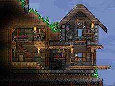 Just a small build : Terraria Terraria House Design, Terraria House Ideas, Terraria Memes, Terraria Tips, Small Terrarium, Jungle House, Minecraft Construction, Minecraft Blueprints, Bath Girls