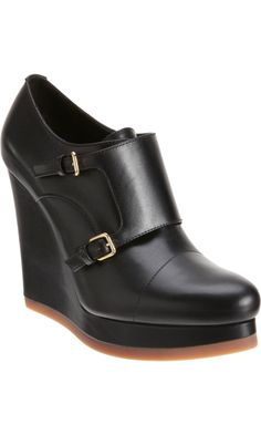 Jil Sander Double Monk Wedge, if only they came in brown.