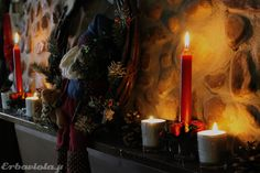 Last Christmas, fireplace decor