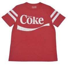 Coca-Cola Coke Men's Vintage Striped T-Shirt #CocaCola #GraphicTee