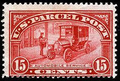 US Stamps 1913 parcel post