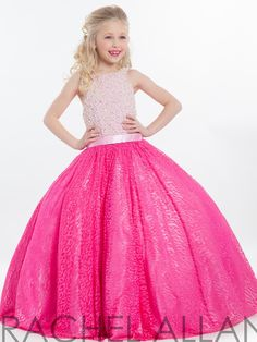 Perfect Angels Little Girl Pageant Ballgown 1608|PageantDesigns.com