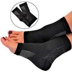 Plantar Fasciitis Sleeve Compression Socks for Men and Women  Heel Arch Ankle Support for Day or Night Foot Pain by RiptGear >>> To view further for this item, visit the image link.