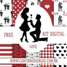 Free Digital Scrapbooking, Digital Scrapbook Paper, Kit Scrapbook, Kit Digital, Digital Paper Free, Posters Gratis, Diy And Crafts, Paper Crafts, Love Png