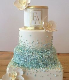 Featured Cake: Bobbette & Belle; Wedding cake idea.