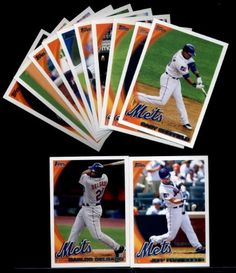 2010 Topps Baseball Cards Complete TEAM SET: New York Mets (Series 1 & 2) 24 Cards including Reyes, Mejia, Santana, Beltran, Maine, Stoner, Wright, Murphy, Sheffield & more! by Topps. $1.99. 2010 Topps Baseball Cards Complete TEAM SET: New York Mets (Series 1 & 2) 24 Cards including Reyes, Mejia, Santana, Beltran, Maine, Stoner, Wright, Murphy, Sheffield & more!