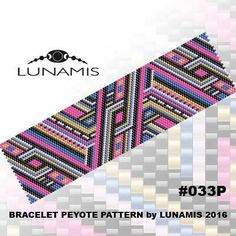 Bracelet pattern, peyote pattern, stitch pattern, pdf file, pdf pattern, #033P by LunamisBeadsPatterns on Etsy