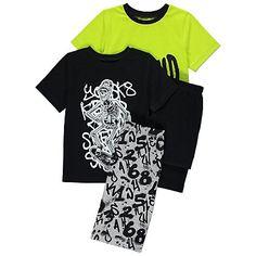 Beyond Cool Skeleton Pyjamas 2 Pack | Kids | George