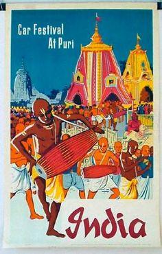 Puri India | Vintage travel poster