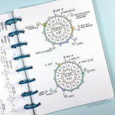 Creative Bullet Journal Ideas and Planner Spreads to organize your life. Inspiring layouts you can copy and do yourself! Perfect for your diary, journal, planner, calendar and Bullet Journal Design, Bullet Journal Daily Spread, Bullet Journal Junkies, Bullet Journal Inspiration, Bullet Journals, Weekly Log, Lettering, Journal Pages, Journal Entries